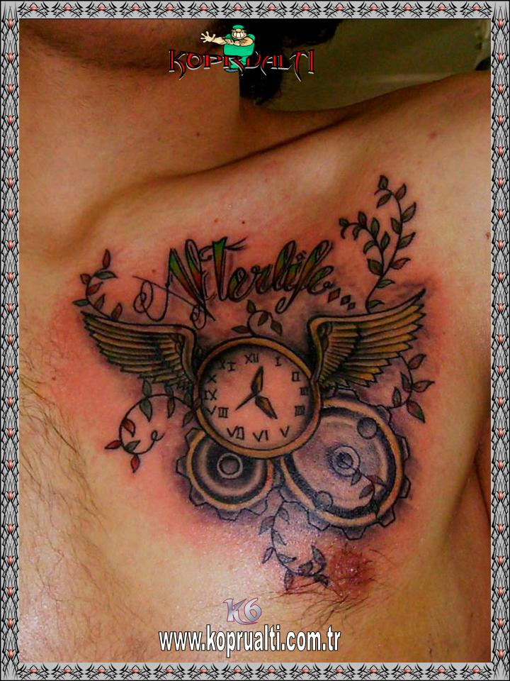 Oldschool clock tattoo oldschool saat